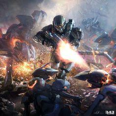 Halo 4 - Master Chief in Combat