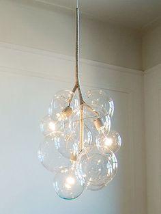 Glazen bubbellamp Meer lampen in de vorm van zeepbellen