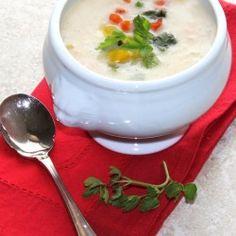 Potato Cheddar & Roasted Pepper Soup - Recipe at cali-zona.com