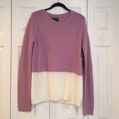 U.S Polo Association Color-Block Sweater NEVER BEEN WORN W/ TAGS!! A cute two-toned sweater in lavender and cream made of a lightweight material. Perfect for fall or spring! U.S. Polo Association  Sweaters Crew & Scoop Necks