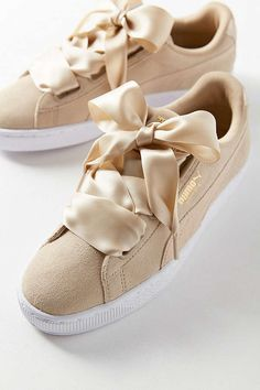 Slide View: 1: Puma Basket Heart Metallic Safari Sneaker