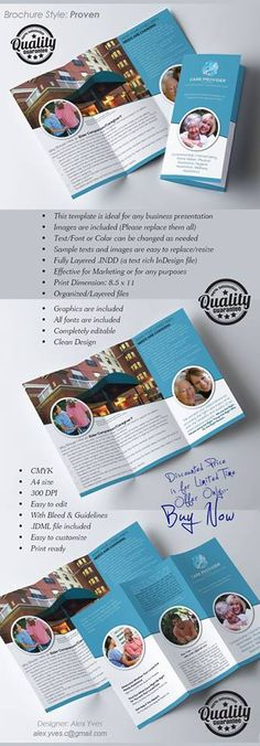 Brochure Trifold, Text Fonts, Organization, Marketing, Facebook, Getting Organized, Organisation