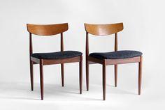 vintage dinamarqueses cadeiras de teca - meados do século, Refeições, Moderna, retros, Eames, Ib Kofod