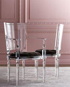 -5SD0 Global Views  Katherine Acrylic Side Chair Katherine Acrylic Armchair