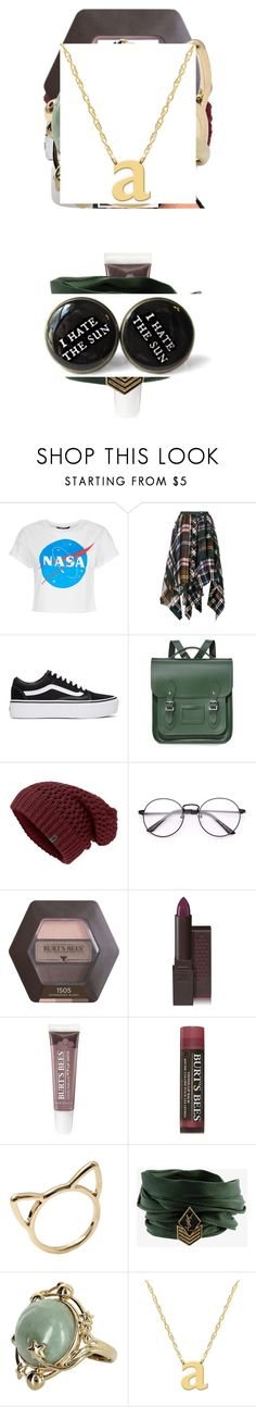 """Radom"" by arikenn on Polyvore featuring Sacai, Vans, The Cambridge Satchel Company, Burt's Bees, Yves Saint Laurent, Vintage and Jane Basch"