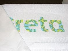 How to make iron-on letters. I'm personalizing some towels for kiddos' gifts but I don't sew.