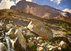 Simplon Pass Oil Painting by John Singer Sargent Art Print by PodArtist - X-Small Landscape Art, Landscape Paintings, Watercolor Paintings, Puzzle Photo, John Singer Sargent Watercolors, Sargent Art, Josephine Wall, National Gallery Of Art, Parc National