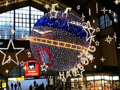 Weihnachtsbeleuchtung am Hamburger Hauptbahnhof