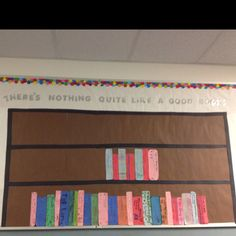 March Reading Month Bulletin Board (other ideas mascot bookends and genre shelves).
