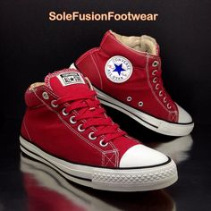 f4ff3c733e8b Converse Mens All Star Skate Trainers Red Size 9 CTS Skateboarding Shoes EU  42.5