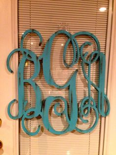 Painted Wooden Monogrammed Letters by Designs0831 on Etsy, $45.00
