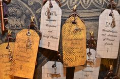 Time Machine Key Tag Escort Cards