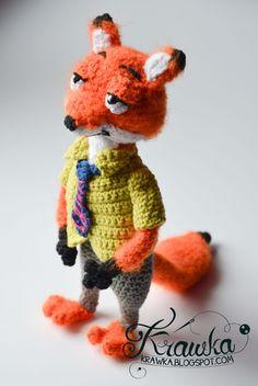Krawka: Nick Wilde the red fox from Zootopia Crochet Pattern by Krawka