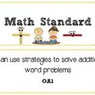 Just print, cut, and laminate and you have your entire CCSS curriculum for Math for your first graders!  There is a Math title poster with images. ...
