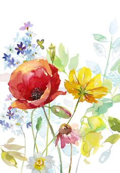 Our key principles are Fairness, Ability, Creativity, Trust and that's a F. Watercolor Painting Techniques, Watercolour Painting, Painting & Drawing, Watercolors, Watercolor Cards, Watercolor Flowers, Guache, Flower Art, Illustrations