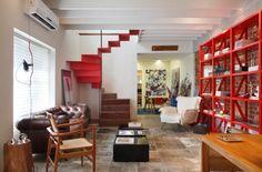 Sala en las oficinas de la firma de aquitectura de Andre Piva en Rio de Janeiro
