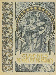❤ - Alphonse Mucha |   Cloches De Noel Et De Paques  - 1900