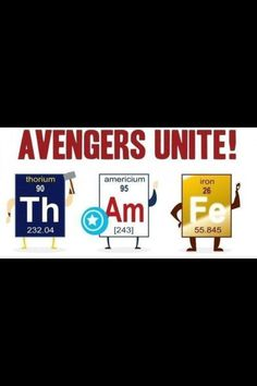 Avengers Unit Thor, Captain America and Iron Man Humor Nerd, Nerd Jokes, Science Puns, Chemistry Jokes, Biology Humor, Science Geek, Easy Science, Physical Science, Science Experiments