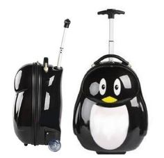 EMS Shipping Cute Penguin Figure Travel Trolley Roller Luggage Bag (Model: Zj000107) by cool2day, http://www.amazon.com/dp/B007A6ZIL8/ref=cm_sw_r_pi_dp_PA2xrb0X38XQ5