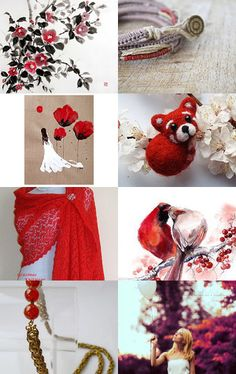 red wedding by Terracotta Prim on Etsy--Pinned with TreasuryPin.com