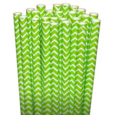 Lime Green Straws http://shopsweetsandtreats.com/chevron-lime-green-paper-party-straws This is my new favorite party site! Follow on Pinterest and FB for tons of adorable party ideas. Site has lots of chevron and polka dots party items.