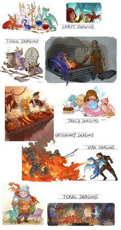 All Dragons by sandara on DeviantArt Mythical Creatures Art, Mythological Creatures, Magical Creatures, Fantasy Creatures, Fantasy Character Design, Character Design Inspiration, Character Art, Creature Concept Art, Creature Design