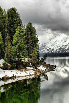 Jackson Lake, Jackson Hole, Wyoming, USA