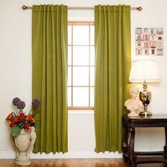 Blackout Rod Pocket Curtain Panel (Set of 2)