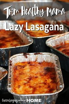 Do you follow the Trim Healthy Mama plan? Their Lazy Lasagna is perfect to make ahead and freeze for later.