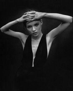 petrole:  les demoiselles de la haute couture, kate moss by mario sorrenti for glamour france september 1993