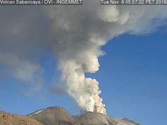 Sabancaya volcano eruption nov 2016, after 18 years, explodes twice nov 2016