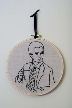 Twin Peaks Dale Cooper Embroidered Wall Art. Damn fine coffee.