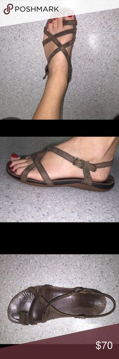 Chaco sandals Brown leather, women's size 7. Worn maybe 10 Chacos Shoes Sandals