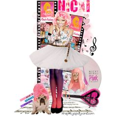 Step into a Bright New World with Pink Friday Nicki Minaj on polyvore