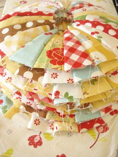 Stack of Dresden's in Sew Cherry fabric