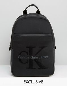 Calvin Klein Exclusive Re-Issue Backpack With Faux Shearling