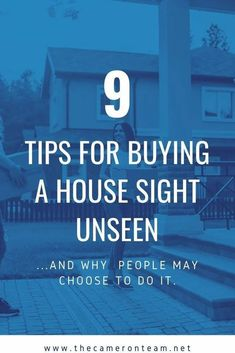 Recent surveys have shown that buying a home sight unseen is on the rise. If you are considering doing this, here are 9 tips to make it a safe and smooth process. #buyingahome #homebuyer #home #realestate Home Buying Tips, Home Selling Tips, Home Buying Process, Real Estate Buyers, Real Estate Investor, Real Estate Marketing, Real Estate Articles, Mortgage Tips, Investment Portfolio