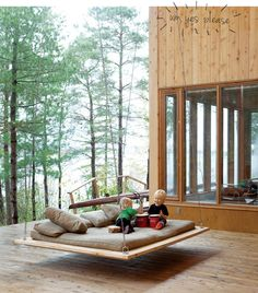 """Yeah, so, if anyone wants to buy me a house in the woods complete with a massive deck and an outdoor nap swing, please feel free.  Seriously though.  A nap swing.  Best idea ever."""