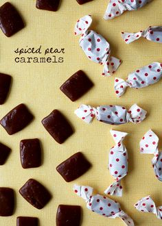 Spiced Pear Caramels - Style Sweet CA