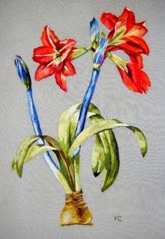 Peinture à l'aiguille réalisée par Yolande