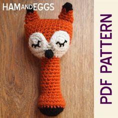 Amigurumi Sleepy Sly Fox Baby Rattle Pdf Pattern by HamAndEggs, $0.99