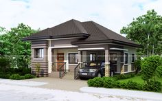 One story Small Home Plan with One Car Garage - Pinoy House Plans