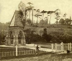 St Ann's Well, Nottingham, c 1860. In 1887 all buildings in the area were demolished to make way for the Nottingham Suburban Railway and it was believed that the monument and Well were covered by one of the supports for the Wells Road Viaduct.