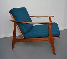 Mid-century, retro, Australian Parker chair - look how good a solid dark colour…