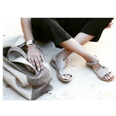 "Stay Classy... Stay MOST CHIC Www.most-chic.com ""Rubia"" leather sandals handmade"