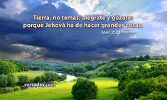 Joel 2:21 - Versiculo para Julio 8