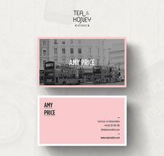 Customizable business card template Calling by TeaAndHoneyStudio