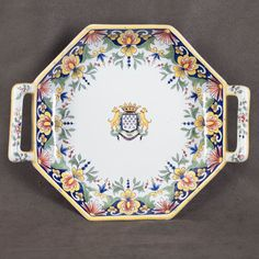 French Faience of Desvres, Platter, signed Fourmaintraux Freres.