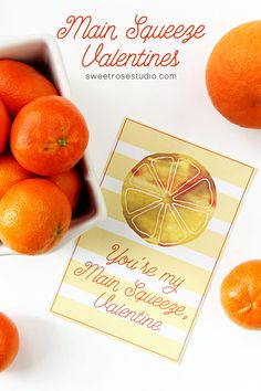 My little guy loves oranges... this is perfect for a healthy classroom valentine!
