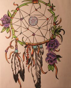 Dare to Dream: Original Bohemian Drawing on Etsy.com ArtByARose. $10